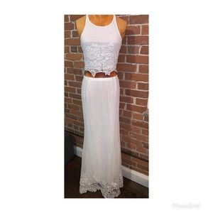 Dresses & Skirts - White lace two piece